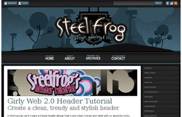 http://www.steelfrog.com/photoshop-tutorial-trendy-girly-web-20-header/
