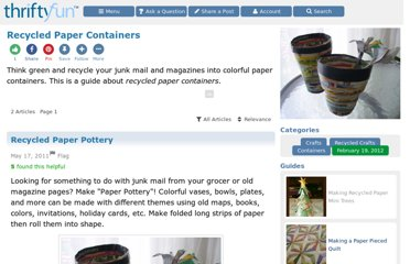 http://www.thriftyfun.com/tf/Craft_Projects/Recycled/Containers/Recycled-Paper-Containers.html