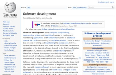 http://en.wikipedia.org/wiki/Software_development