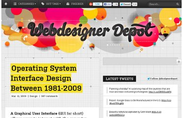 http://www.webdesignerdepot.com/2009/03/operating-system-interface-design-between-1981-2009/