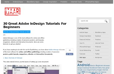 http://ijaar.com/30-great-adobe-indesign-tutorials-for-beginners/