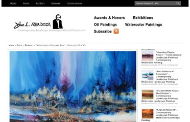 http://www.johnmendoza.com/index.php/posts/watercolor-paintings/hidden-lake-of-memories-blue-watercolor-22-x-30/