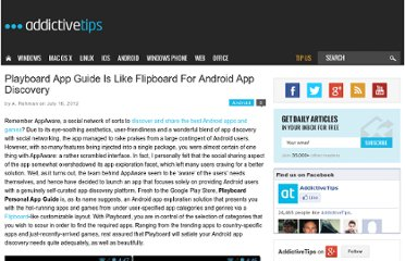 http://www.addictivetips.com/android/playboard-app-guide-is-like-flipboard-for-android-app-discovery/