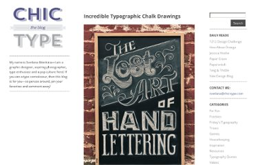 http://chic-type.com/blog/incredible-typographic-chalk-drawings/