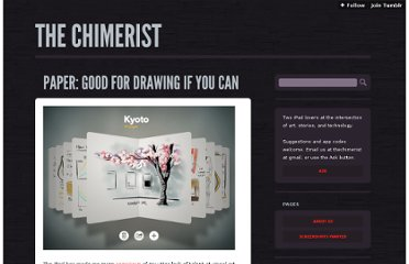 http://thechimerist.com/post/20406255078/paper-good-for-drawing-if-you-can