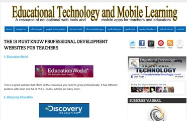 http://www.educatorstechnology.com/2012/07/the-13-must-know-professional.html