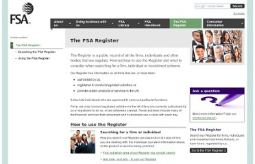 http://www.fsa.gov.uk/fsaregister