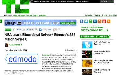 http://techcrunch.com/2012/07/19/nea-leads-educational-network-edmodos-25-million-series-c/