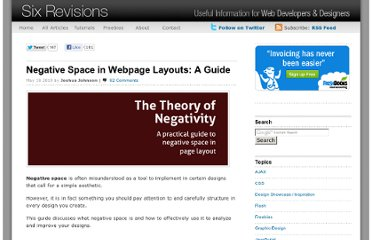 http://sixrevisions.com/web_design/negative-space-in-webpage-layouts-a-guide/