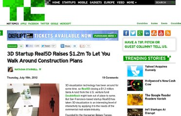 http://techcrunch.com/2012/07/19/3d-startup-real5d-raises-1-2m-to-let-you-walk-around-construction-plans/