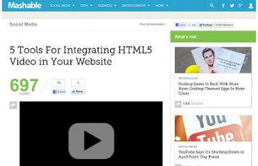http://mashable.com/2010/05/18/html5-video-tools/