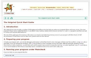 http://valgrind.org/docs/manual/quick-start.html#quick-start.intro