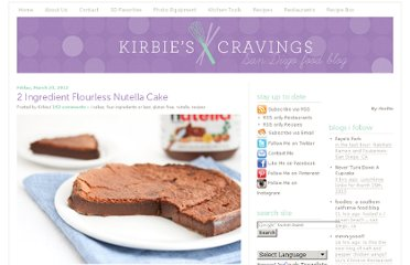http://kirbiecravings.com/2012/03/2-ingredient-flourless-nutella-cake.html#