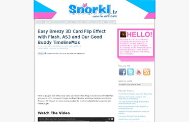 http://www.snorkl.tv/2010/12/easy-breezy-3d-card-flip-effect-with-flash-as3-and-our-good-buddy-timelinemax/