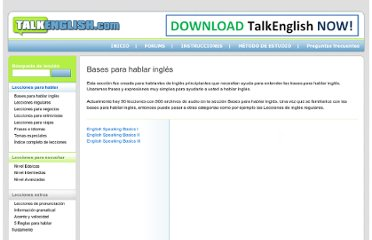 http://es.talkenglish.com/Speaking/listbasics.aspx