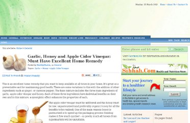 http://www.healthymuslim.com/articles/zccrk-garlic-honey-and-apple-cider-vinegar-must-have-excellent-home-remedy.cfm