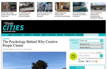 http://www.theatlanticcities.com/neighborhoods/2012/07/psychology-behind-why-creative-people-cluster/2243/