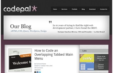http://www.code-pal.com/how-to-code-an-overlapping-tabbed-main-menu/