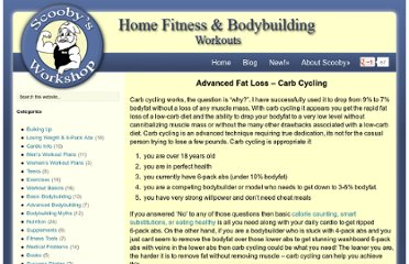 http://scoobysworkshop.com/advanced-fat-loss-carb-cycling/