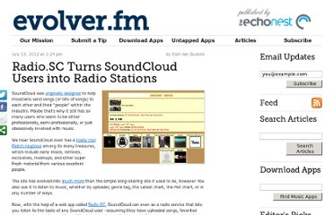 http://evolver.fm/2012/07/19/radio-sc-turns-soundcloud-users-into-radio-stations/
