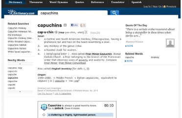 http://dictionary.reference.com/browse/capuchins
