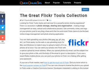 http://www.quickonlinetips.com/archives/2005/03/great-flickr-tools-collection/