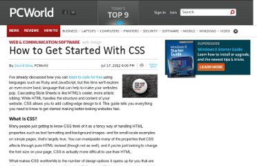 http://www.pcworld.com/article/258701/how_to_get_started_with_css.html