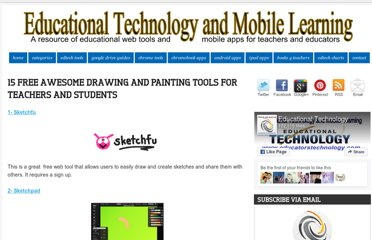 http://www.educatorstechnology.com/2012/07/15-free-awesome-drawing-and-painting.html