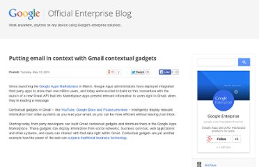 http://googleenterprise.blogspot.com/2010/05/putting-email-in-context-with-gmail.html