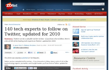 http://www.zdnet.com/blog/btl/140-tech-experts-to-follow-on-twitter-updated-for-2010/31704