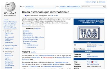 http://fr.wikipedia.org/wiki/Union_astronomique_internationale