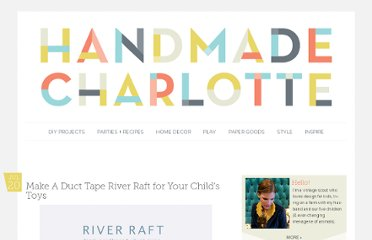 http://www.handmadecharlotte.com/diy-duct-tape-river-raft/