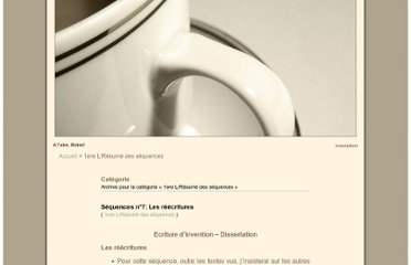 http://alaiseblaise.unblog.fr/category/1ere-lresume-des-sequences-pour-lecriture-dinvention-et-la-dissertation/