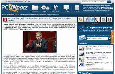 http://www.pcinpact.com/news/72594-riester-demande-l-extension-redevance-copie-privee-au-cloud.htm