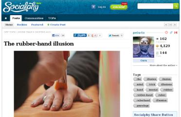 http://www.socialphy.com/posts/off-topic/10134/The-rubber-hand-illusion.html