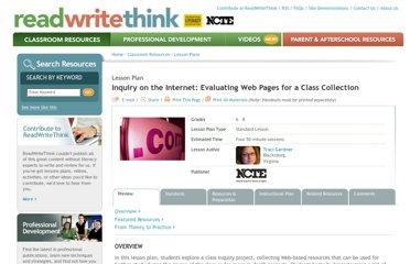 http://www.readwritethink.org/classroom-resources/lesson-plans/inquiry-internet-evaluating-pages-328.html