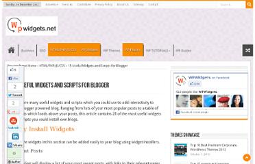 http://wpwidgets.net/15-useful-widgets-and-scripts-for-blogger/