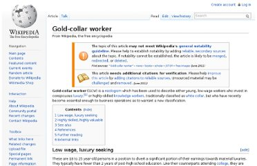 http://en.wikipedia.org/wiki/Gold-collar_worker