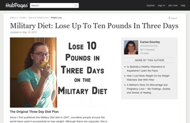 http://blessedmommy.hubpages.com/hub/Lose-Up-To-10-Pounds-In-3-Days-On-The-3-Day-Diet