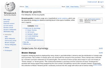 http://en.wikipedia.org/wiki/Brownie_points