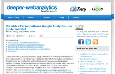 http://deeper-webanalytics.com/variables-personnalisees-google-analytics-le-guide-complet/
