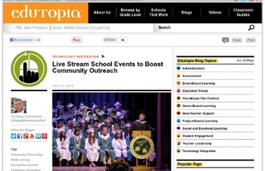 http://www.edutopia.org/blog/live-streaming-schools-joe-mazza