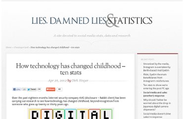 http://liesdamnedliesstatistics.com/2012/04/how-technology-has-changed-childhood-ten-stats.html
