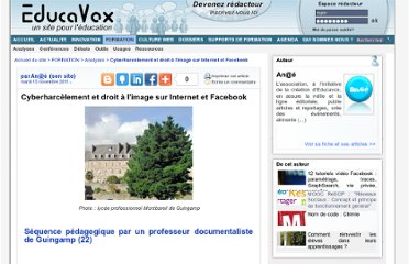 http://www.educavox.fr/formation/analyses-27/Cyberharcelement-et-droit-a-l