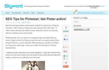 http://www.skyword.com/blog/seo-tips-for-pinterest-get-pinter-active/