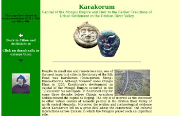 http://depts.washington.edu/silkroad/cities/karakorum/karakorum.html