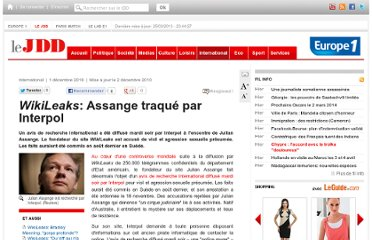 http://www.lejdd.fr/International/Actualite/WikiLeaks-Interpol-a-lance-mardi-soir-un-mandat-d-arret-international-contre-Julian-Assange-237549?sitemapnews