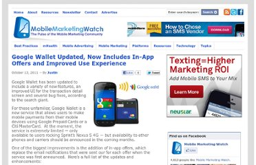 http://www.mobilemarketingwatch.com/google-wallet-updated-now-includes-in-app-offers-and-improved-use-experience-19064/