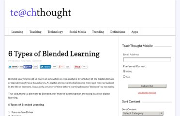 http://www.teachthought.com/learning/6-types-of-blended-learning/