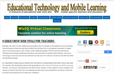 http://www.educatorstechnology.com/2012/07/9-great-new-web-tools-for-teachers.html